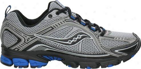 Saucony Grid Excursion Tr6 (men's) - Grey/black/blue