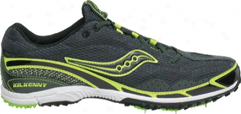 Saucony Kilkenny Xc 3 Spike (men's) - Green/black/citron