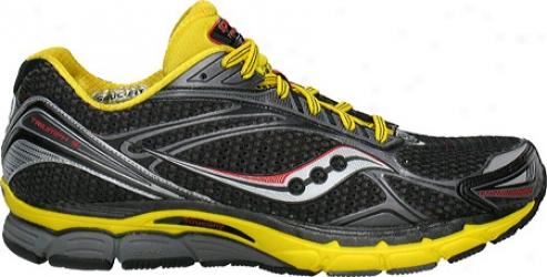 Saucony Powergrid Triumph 9 (men's) - Black/yellow