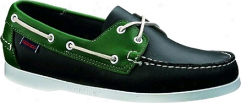 Sebago Spinnaker (men's) - Navy & Green