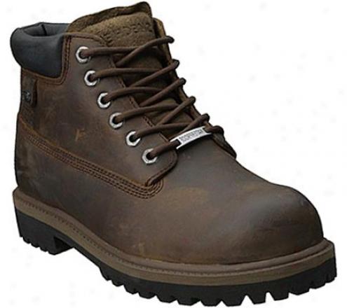Skechers Sergeants Verdict (men's) - Dark Brown Waterproof Crazyhorwe Leather