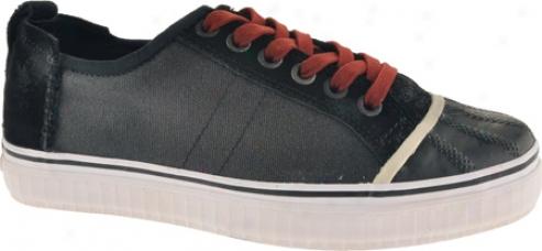 Sorel Sentry Sneaker Canvas (men's) - Black/russet Brown
