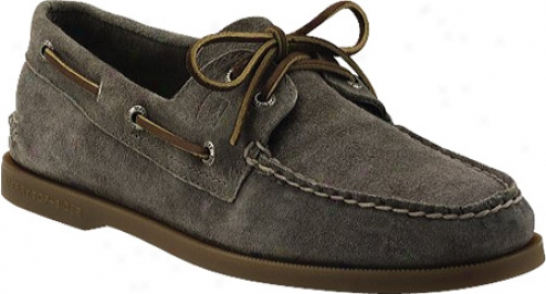 Sperry Top-sider A/o 2 Eye Suede (men's) - Gray Suede