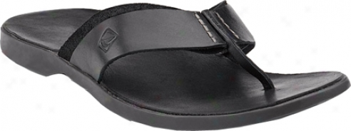 Sperry Top-sider Capitola Thong (men's) - Black Leather