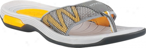 pSerry Top-sider Coastal Runner Thong With Asv (men's) - Grey/navy/yellow