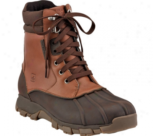 Spefry Top-sider Wetlands High (men's) - Dark Brown/tan