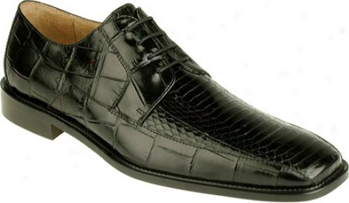 Stacg Adams Jaxoj 24414 (men's) - Black Snakeskin/crocodile Print Leather