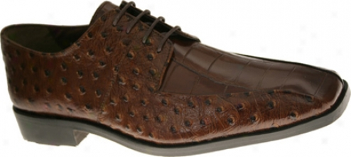 Stacy Adams Lenox 24141 (men's) - Cognac Osterich With Croco Print Leather
