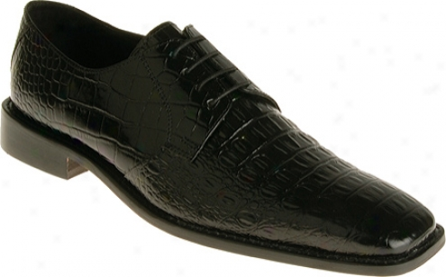 Stacy Adams Merrick 24542 (men's) - Black Hornback/crocodile Print Leather