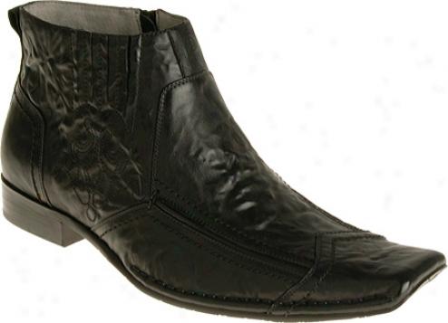 Stacy Adams Veer 24529 (men's) - Black Distressed Leather