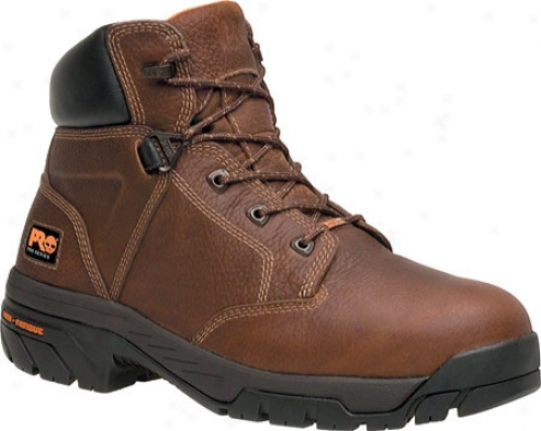 """timberland Helix Waterproof 6"""" Soft Toe (men's) - Brown Full Gtain Leather"""