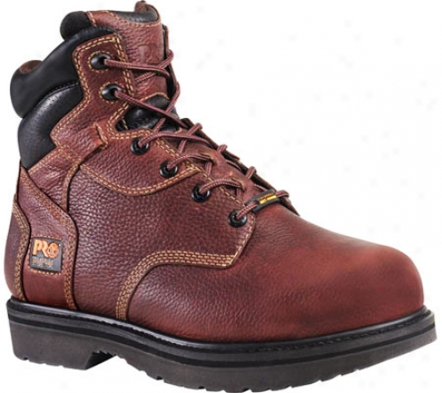 """timberland Internal Met Guard 6"""" Carburet of iron Toe (men's) - Burgundy Oiled Full Grain Leather"""