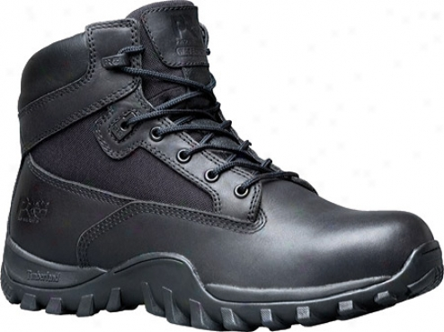 """timberland Mcclellan 6"""" Waterproof (men's) - Black Leather/mesh"""