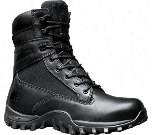 """timberand Mcclellan 8"""" Waterproof (men's) - Black Leather/mesh"""