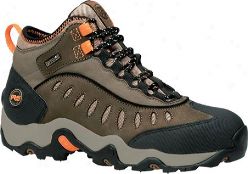 Timberland Mudslinger Middle Waterproof Steel Toe (men's) - Brown Nubuck