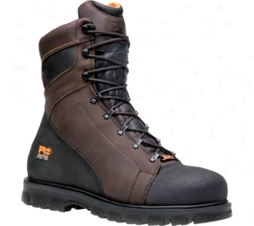 """timberland Rigmaster 8"""" Waterrproof Steel Toe Ever-guard (men's) - Brown Full Grain Leather"""