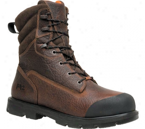 """timberland Storm Force Waterproof 8"""" Xl Composite Toe (men's) - Brown Tumbled Full Grain Leather"""