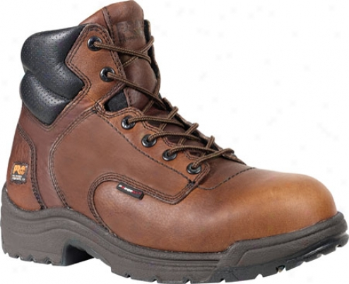 """timberland Titan 6"""" Compounded Toe (men's) - Camel Brown Full Grain Leathdr"""