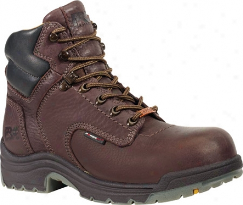 """timberland Titan Waterproof 6"""" Soft Toe (men's) - Dark Mocha Full Grain Leather"""