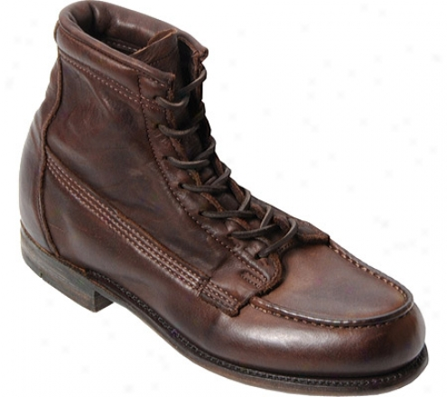 """vintage Sgoe Company 6"""" Moc-toe Lace-up Ankle Boot 1300"""" (men's) - Brown Leather"""