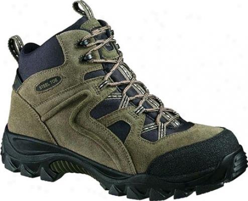 Wolverine Brighton Mid Cut Slip Resistant Hiker Steel Toe (men's) - Hedge/black