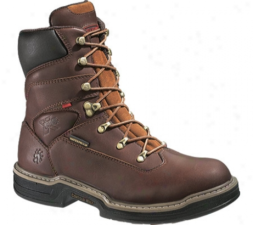 """wolverine Buccanneer 8"""" Steel Toe (men's) - Dark Brown"""
