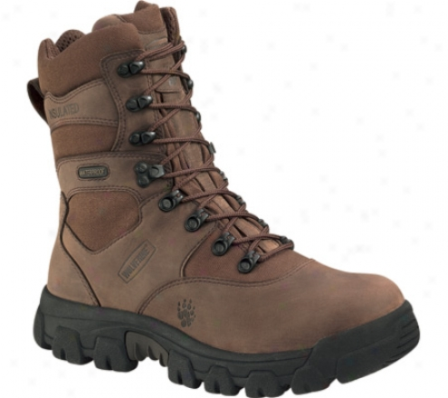 """wolverine Hawthorne Insulated 8"""" Waterproof (men's) - Brown Nubuck/maxi Brown Cordura"""