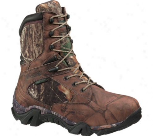 """wolverine Impala Insulated Gore Tex 9"""" Waterproof (men's) - Brown Full Grain Leather/mossy Oak"""