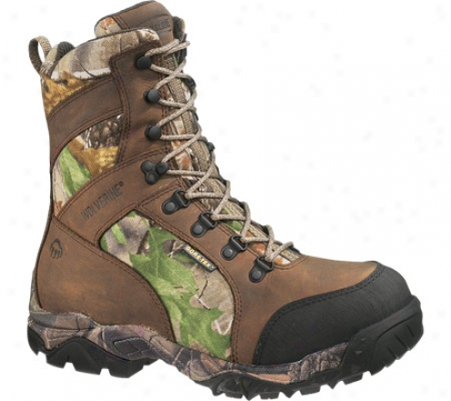 """wolverine Sportback Insuated Goer-tex Wp Boot 8"""" (men's) - Brown/all Purpose Hd Green"""