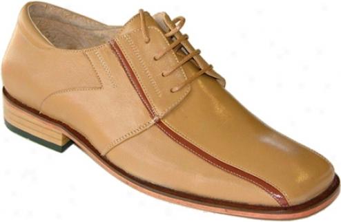 Zapato Oxford Ge-01 (men's) - Gold Calfskin Leather