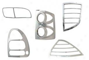 2002-20009 Chevy Trailblazer Pilot Chrome Caudal appendage Light Bezel Covers