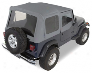 2002 Jeep Wrangler Rugged Ridge Xhd Smooth Tops 13724.15 Replacement Soft Top With Door Skins