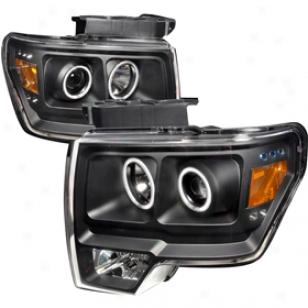 2005 Ford Crown Victoria Spec-d Headlights Lh-vic98-apc Euro Headlightss