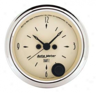 Autometet Street Rod Old Beige Gauges 1885 Clock