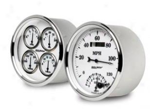 Autometer Street Rod Old Tyme Whife Ii Gauges ,Autometer - Automotive Gauges - Gauges