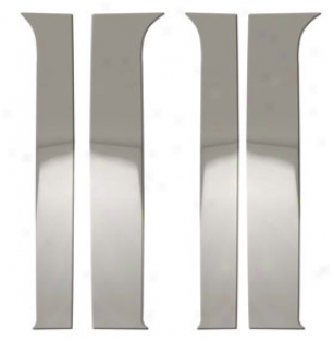 Bully Stainless Steel Pillar Post Trim - Chrome B Pillar Trim