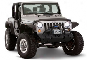 Jeep Fender Flares & Trim - Bushwacker Fender Flares - Flat Style