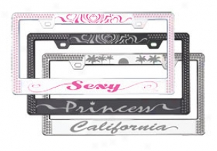 License2bling Graphic License Plate Frames - License2bling Novelty Rhinestone License Plate Frame