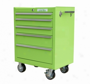 Lime Box 5-drawer Rolling Tooi Cabinet - Lime Green Rolling Tool Box - Green Rolling Toolboxes