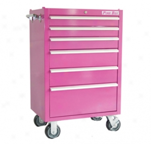 Pink Box Rolling Tool Chests Pb2606r 6-drawer Chest