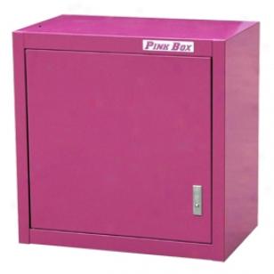 Pink Box Wall Closet - Pink Garage Wall Cabinets - Pink Hanging Wall Cabinet
