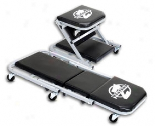 Pro-lift Z-creeper Seat - Pro Aid Z-creeper Folding Rolling Mechanics Seats