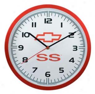 Taxor Chevy Ss Logo Wall Clock - Chevy Ss Clocks