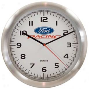 Taxor Ford Oval Logo Wall Clock 12249 Aluminum Ford Racing Wall Clock