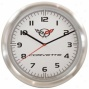 Taxor Corvette Logo Wall Clock 20289 Aluminum Wall Clock