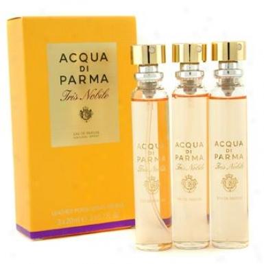 Acqu aDi Parma Iris Nobile Leather Purse Spra6 Refills Eau De Parfum 3x20ml/0.7oz