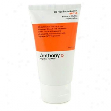 Anthony Logistics For Men Oil Free Faciai Lotion Spf 15 ( Normal To Oily Skin ) 70g/2.5oz