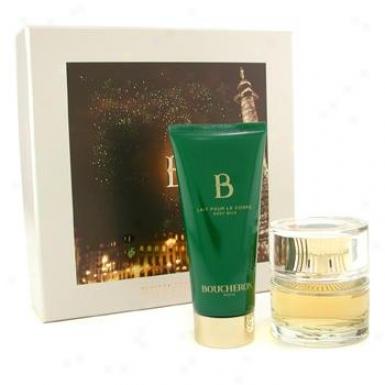 Boucheron B De Boucheron Coffret: Eau De Parfum Spray 50ml/1.6oz + Body Milk 100ml/3.3oz 2pcs