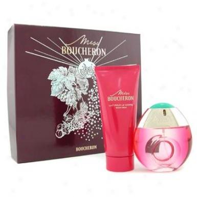Boucheron Miss Boucheron Coffret: Eau De Parfum Spray 50ml + Body Lotion 100ml 2pcs