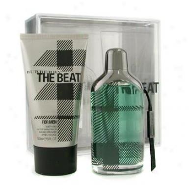 BurberryT he Beat For Men Coffret: Eau De Toilette Spray 100ml/3.3oz + After Shave Balm 150ml/5oz 2pcs